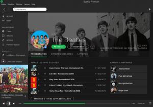 La discographie des Beatles est disponible sur Spotify depuis le 24 décembre 2015.
