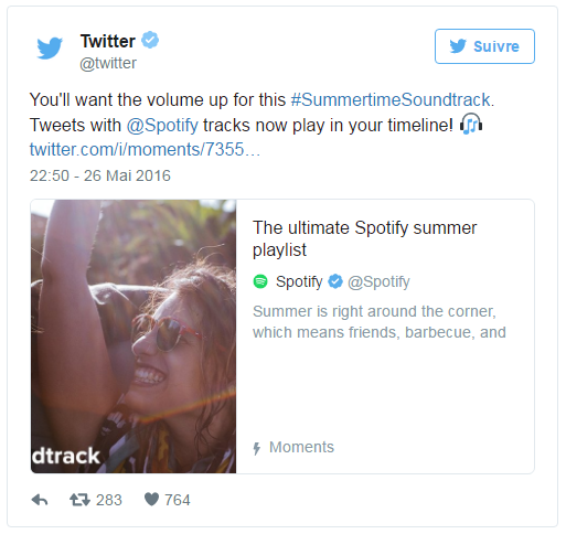 twitter summer audio cards spotify